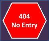 404 no entry sign.