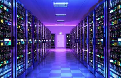A web hosting server room