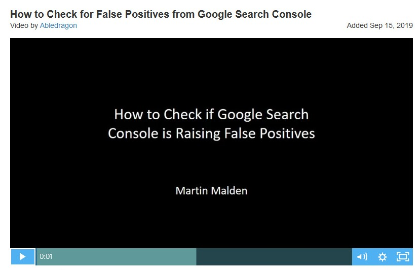 How to check for false positives on Google Search Console