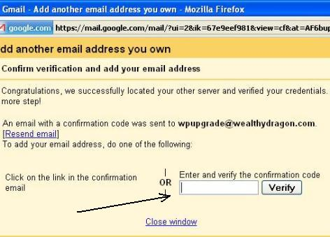 Get the verification code and add it to the box.
