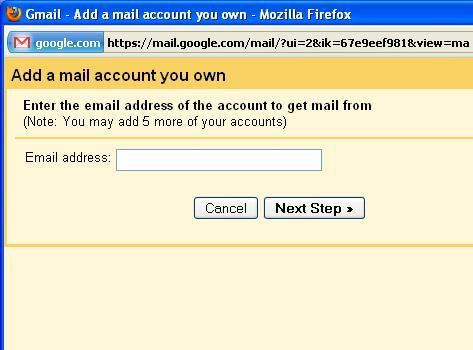 Add your POP3 email address details.
