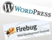 WordPress and Firebug.