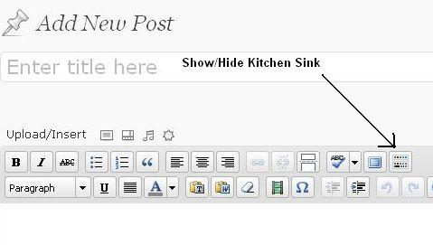 Kitchen Sink Button in WordPress