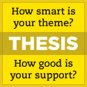 Thesis theme logo.