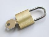 Secure backup: padlock and key.